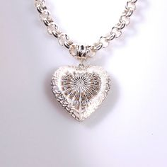 Pendant  silver  Vintage style  Heart of Love by TorkkeliJewellery, $182.00  I want this for Valentine's Day....hint hint