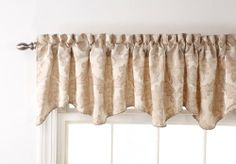 Stylemaster Renaissance Home Fashion Darby Scalloped Valance with Cording, 90 by 17-Inch, Ivory Stylemaster Home Products,http://www.amazon.com/dp/B00BLHV7ZI/ref=cm_sw_r_pi_dp_ev4Ysb02TJ99V8XH