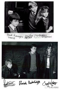 I love how Rupert's stays the same (perfect) and Dan's improves only a little and Emma's looked a little bit the same.