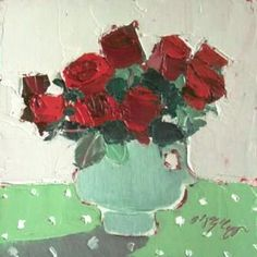 Mhairi McGREGOR - Red Roses-oil
