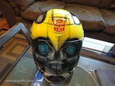 Custom Painted Airbrushed Bumble Bee Z1R: COOLEST....HELMET...EVER!!