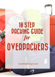 10 Step Packing Guide to Stop Overpacking Are you a chronic overpacker? Not anymore! Join thousands of other female travelers and read our pro travel tips and pack right for every trip! Travelling Tips, Packing Tips For Travel, Travel Advice, Travel Essentials, Travel Hacks, Packing Ideas, Travel Ideas, Europe Packing, Travel Gadgets