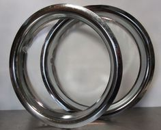 """14"""" CHROME Trim Rings Beauty Rims Glamour Ring Rim Edge Bands Nos 2 Total #AutoZone Online Auto Parts Store, Steel Wheels, Bands, Chrome, Glamour, Beauty, Band, Band Memes, The Shining"""