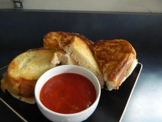 The Very Best Fried Mozzarella (cut up sandwiches with pizza sauce!)