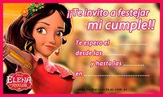 Elena de Avalor - Nueva tarjeta de cumpleaños para imprimir gratis