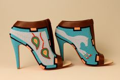 Gorgeous beaded heels by Jamie Okuma. Native American artist. #nativeamerican