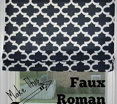 Amazing way to create a faux Roman blind.