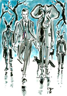 THOM BROWNE FW14 imagined by Clym Evernden 1 of 3