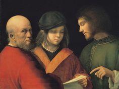Giorgione - Three Ages of Man - Palazzo Pitti - Philippe Verdelot — Wikipédia