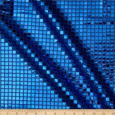 Sequin Check Fabric Royal from @fabricdotcom  This sequin fabric is perfect for glitzy formal wear, costumes and dance apparel. It features flat square sequins adhered to a mesh fabric with no significant stretch.