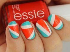 Fotos de uñas color naranja - 50 ejemplos - orange nails   Decoración de Uñas - Manicura y NailArt