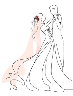 Ideas for wedding couple clipart digi stamps