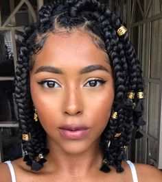 The Best 21 Jumbo Box Braids Ever! - Box Braids Hairstyles for African American Women - Braided Hairstyles Braided Hairstyles For Black Women, African Braids Hairstyles, Braids For Black Women, Bob Hairstyles, Flat Twist Hairstyles, Teenage Hairstyles, Baddie Hairstyles, Black Braids, Modern Hairstyles
