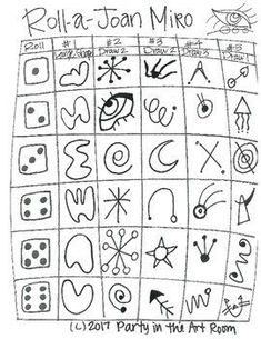 Game art 306174474668124043 - Art & Roll- Joan Miro Source by elanredolfiferr Art Games For Kids, Art Lessons For Kids, Art Sub Plans, Art Lesson Plans, Game Art, Arte Elemental, Joan Miro Paintings, Art Worksheets, Art Programs