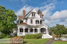 McLeod House, built 1897, Hattiesburg, Mississippi. Queen Anne Style Victorian home.