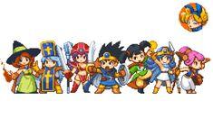 Game 2d, Dragon Quest, 8 Bit, Game Design, Pixel Art, Videogames, Illustrator, Anime Art, Fan Art