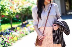 Mix pretty pastels with a print.