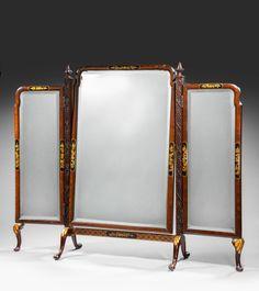 Triple Plate Dressing Mirror