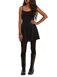 HOTTOPIC.COM - Black Lamé Tank Dress