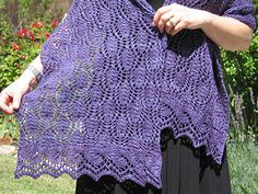The world of nature is often credited for being the source of inspiration for so many gorgeous shawls and wraps. The Hardenburgia Shawl is no exception - the hardy vine growing up my fence, covered in trailing cascades of tiny purple flowers (like miniature wisteria, only without the fragrance!), is at the heart of this wrap. Two easy-to-master lace stitch patterns (the body and the borders) ensure that the wrap is just challenging enough for beginners, but satisfying for experienced…