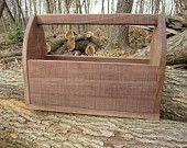 Reclaimed wood/ carpenters/ tool box/ gift basket / solid black walnut