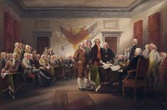 Signing of the Declaration of Independence by John Trumbull -   American History Fun Facts - www.american-history-fun-facts.com