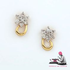 Shine on You Little Diamond!!  Let your inner diamond shine bright!  Hand Crafted Diamond Jewellery by JewelsOfJaipur.com  #diamond #diamondearrings #earrings #finejewellery #finejewelry #jewelryonline #buyjewelry #sparkle #shine #likeadiamond #diamondjewelry #wedding #weddingjewelry #indianwedding #jewelryforwomen #women #fashion #gemstone #jaipur