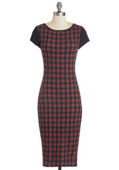 Chemistry Cadre Dress. After a busy week of research and lab work, you join your fellow scientists for a low-key drink in this smart plaid sheath. #multi #modcloth
