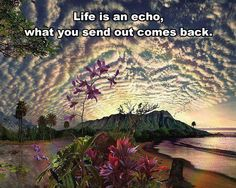 ...what you send out comes back ... ~via radical