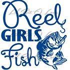 Reel Girls Fish Vinyl Decal in Blue