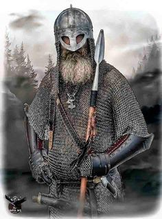 Old Norse by thecasperart on DeviantArt Viking Warrior Men, Viking Armor, Viking Men, Viking Life, Medieval Armor, Norse People, Les Runes, Viking Reenactment, Armadura Medieval