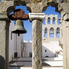 Patmos island,Greece Greek Islands, Pilgrim, Decorative Bells, Greece, Places To Go, Tours, Amazing, Gardens, Travel