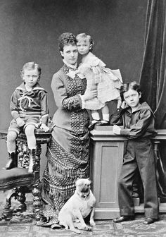 EMPRESS MARIA FEODOROVNA WITH GEARGE, XENJA AND NIKOLAI (AND A PUG)   Flickr - Photo Sharing!