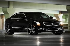 Lexani Wheels, the leader in custom luxury wheels.  Machine and Black R-three on the Cadillac ATS.
