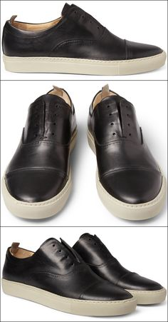 #Alexander #McQueen Leather Sneakers OXFORD STYLE  #fashion #style #sneaker
