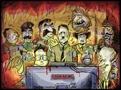 هواة..! | !amateurs..   #syriachildren #savesyria #alassad #syrianrevolution #votealassad #sawaalassad ---Dead Dictators in the cartoon: Gaddafi, Adolf Hitler, Jozef Stalin, Saddam Hussain, Moa Zedong, Kim Jong II, Ida Amin Dada, Hafiz Alassad, Ariel Sharon, Vlad III the Impaler.....