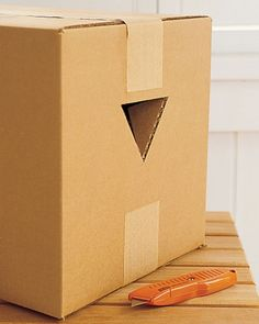 25 TRICKS FOR SIMPLIFYING THE BIG MOVE - If your moving boxes don't have pre-punched grips, make a set of your own. Using a box cutter, create inverted triangles on opposite sides of an empty box. The top edge of each triangle should be wide enough to accommodate all hand sizes. Take care not to overpack your boxes, as they'll be more difficult to maneuver, with or without handles.