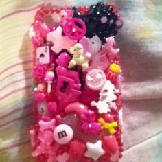 Pink poodle theme kawaii trinket cell phone cover