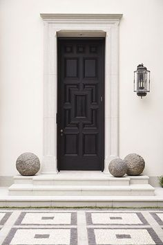 Great entrance. Understated yet stately  Love the limestone framing the door