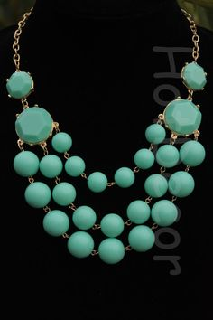 Turquoise Statement necklaces Kate Spade  J Crew by HotDecor, $12.99