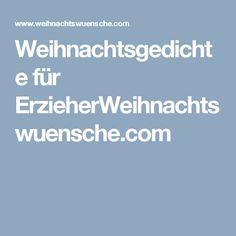 Weihnachtsgedichte für ErzieherWeihnachtswuensche.com