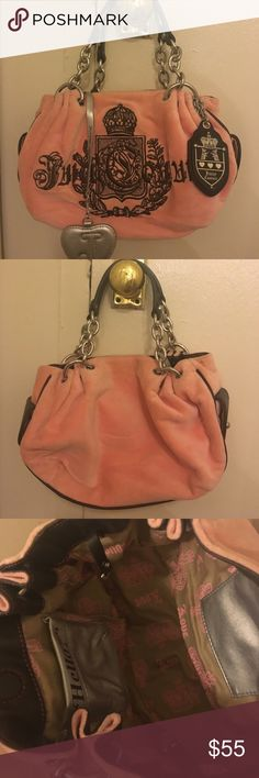 Used-Authentic JUICY COUTURE Suede Leather Bag Authentic JUICY COUTURE Suede Leather Bag small in excellent condition. No dust bag or box! I never actually used this bag, it was in my closet all the time; it is in an excellent condition. Juicy Couture Bags
