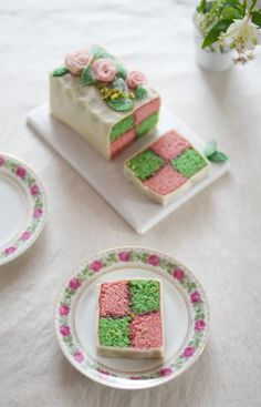 Lemon & Vanilla: Sweet World Challenge and the Battenberg Cake / Bolo Battenberg e o Sweet World.