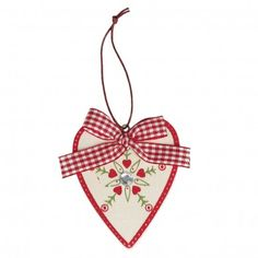 Scandinavian Jewelled Heart Christmas Decoration