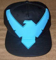 premium selection fe9fc 66848 DC BATMAN NIGHTWING ORIGINAL SNAPBACK HAT FLAT BRIM CAP BLACK  amp  BLUE  NEW  DC