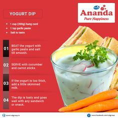 A Special Treat From #Ananda !! Are you in mood for some delicious indulgence? Try out our today's yummy & healthy #YogurtDip‬ . Like if you love this recipe. #PureHappiness‬