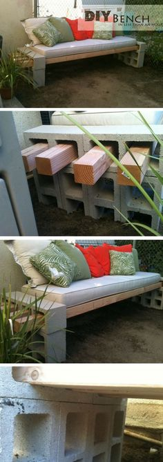 Check out how to build a quick and easy DIY bench for the outdoors @istandarddesign