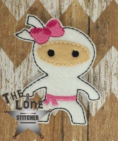 Ninja With Bow Over Sized: The Lone Stitcher