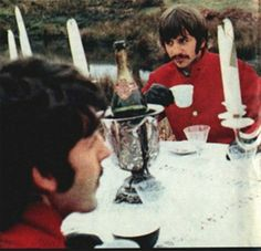 The Beatles (filming the promotional clip for Strawberry Fields Forever, at Knole Park in Sevenoaks, Kent. Owned by the National Trust 1967)