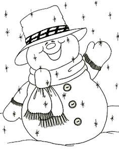 Snowman Coloring Pages, Christmas Coloring Pages, Adult Coloring Pages, Coloring Book Pages, Christmas Wood, Christmas Colors, Christmas Snowman, Christmas Projects, Christmas Ornaments